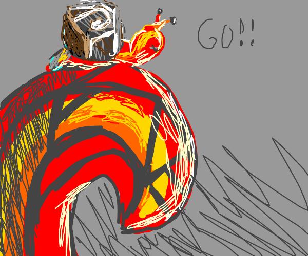 Magma Snail, Ride Lava Wave Attack! Go!