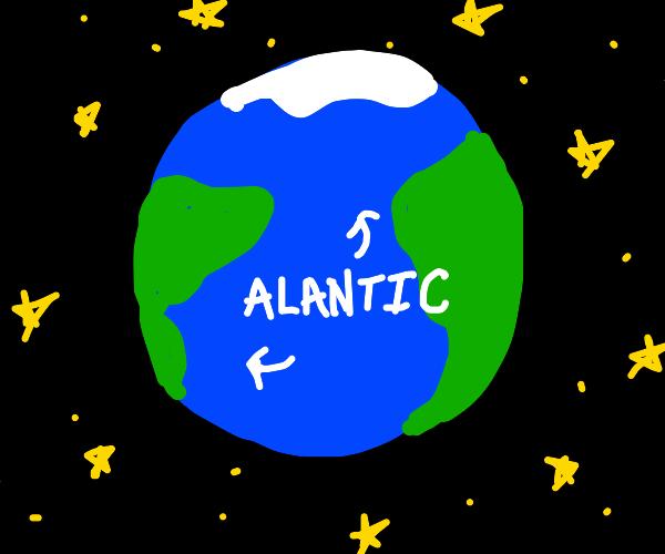 the entire Atlantic Ocean