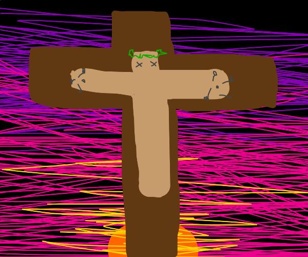 The cross dies on the cross