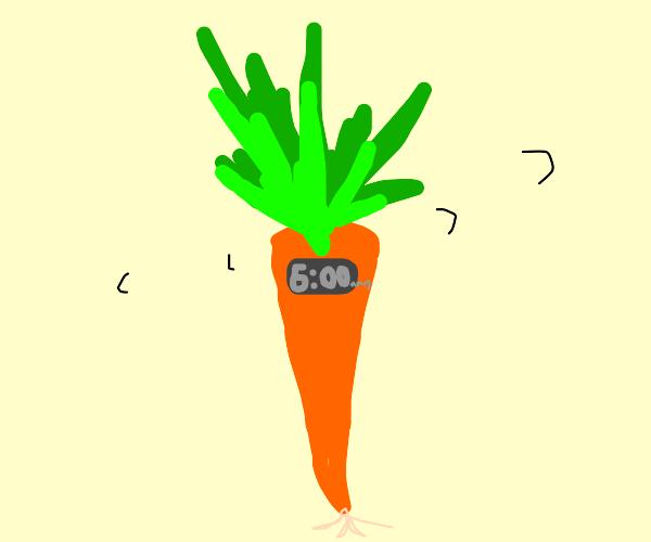 Carrot shaped alarm clock
