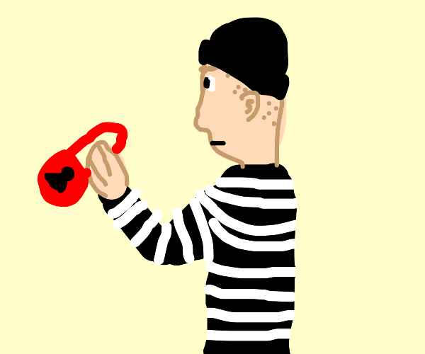 Robber with a lock