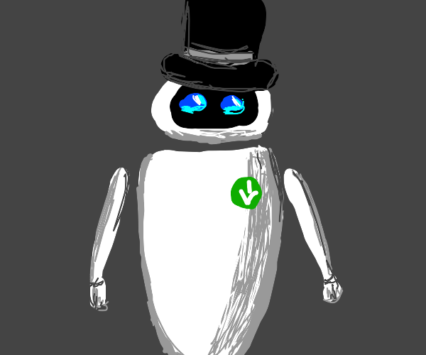 Eve with a top hat (Wall-E)