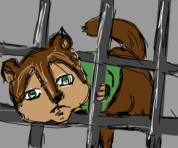 Alvin the humanoid chipmunk stuck in a vent