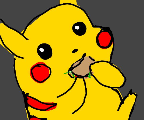 pikachu eatin a sanwich :3