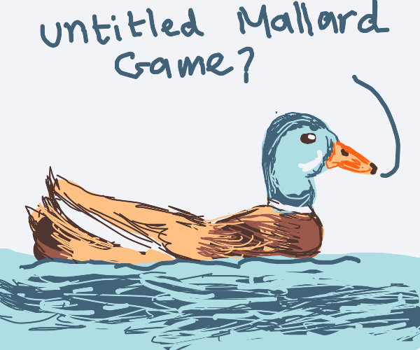 Mallard wants some goose game action