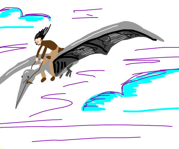 flying with a pterodactyl
