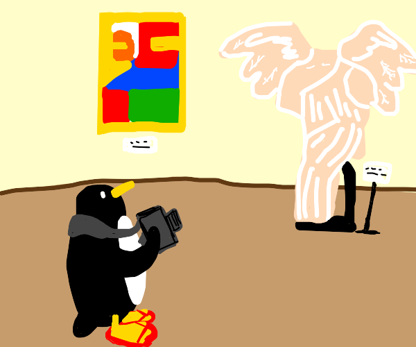 penguin on vacations