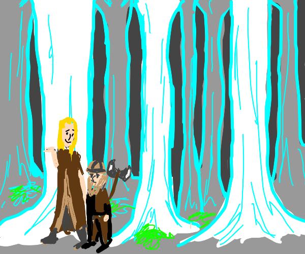 Gimli thinks Legolas is cool with a love hear