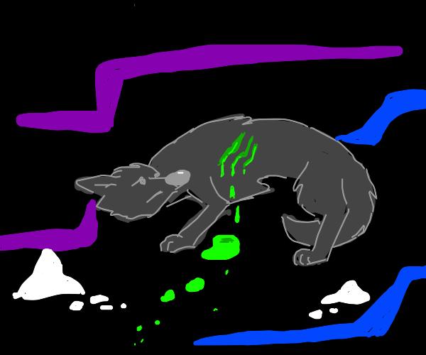 wolf bleeds green blood
