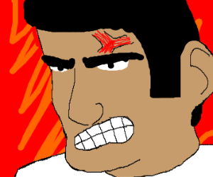 angry chinese man with veins
