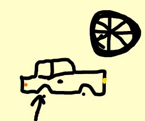 Car lost wheels