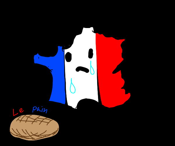 France cries at bread