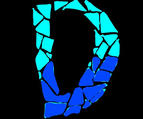 Blue fragments turn into Drawception