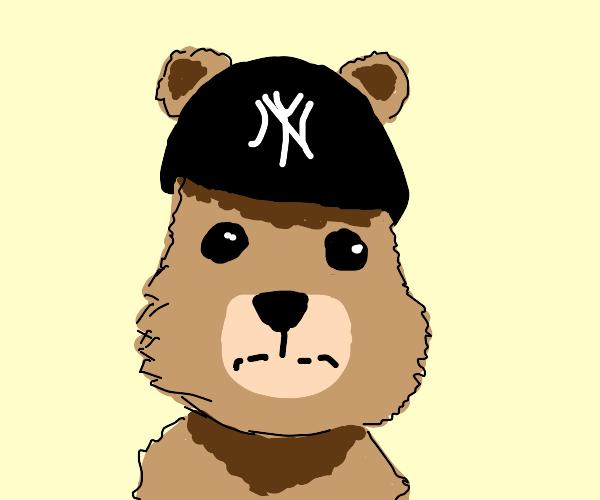 teddy bear with no brim