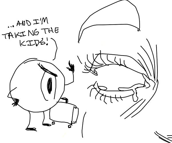 eyeball left human's eyesocket