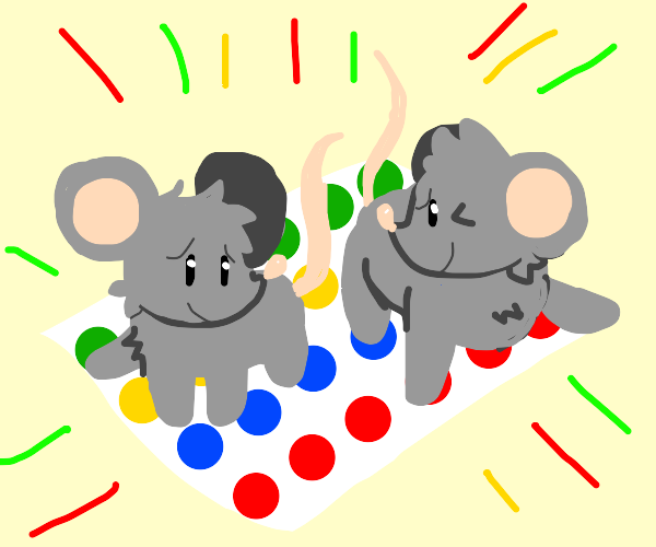 rats playing twister