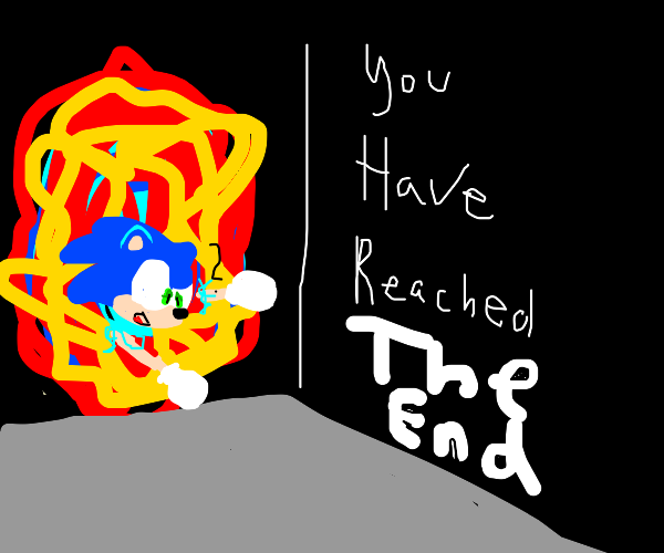 Sonic Creates a Portal to The End