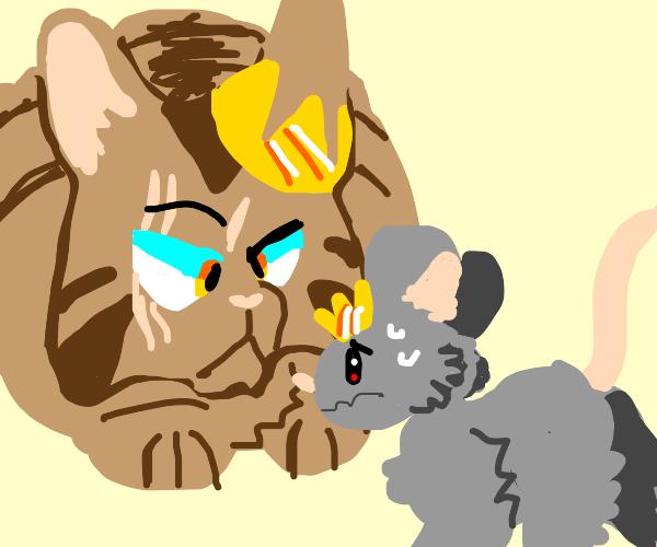 The cat-King vs the Rat-King showdown