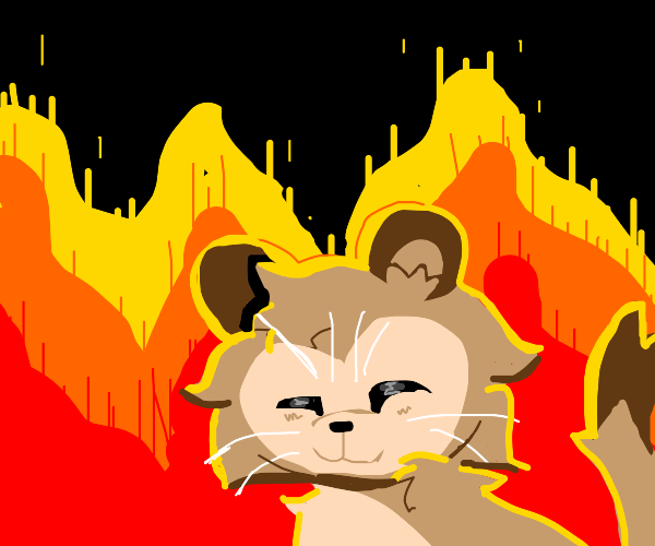 Cougar in a Fire