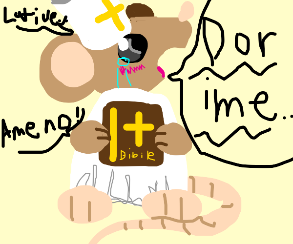 Mouse pope bursts into song! Hallelujah!