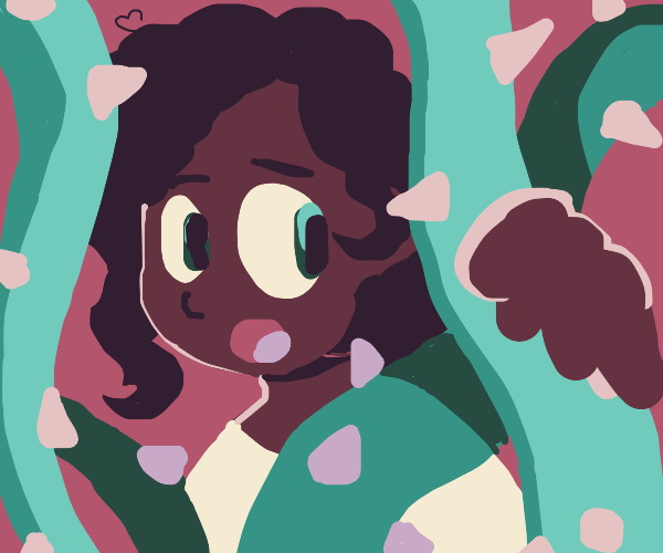 Little girl lost in the vines