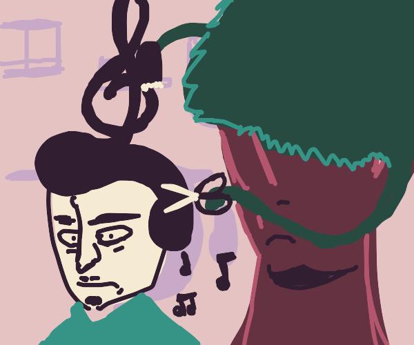 Musical hair-stylist tree