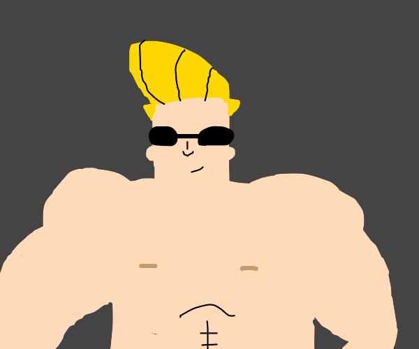 Johnny Bravo without a shirt
