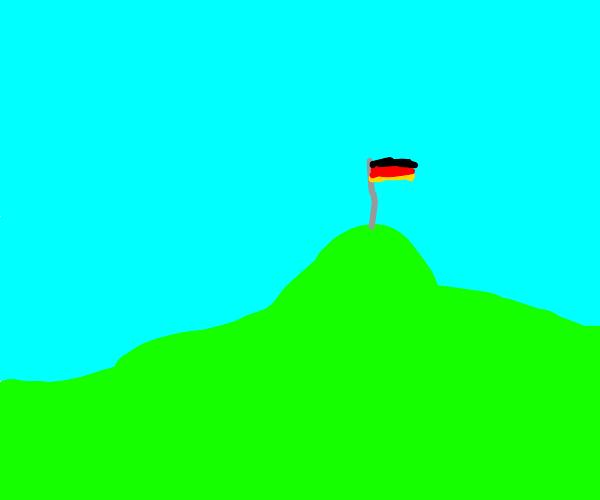 german flag on a hill