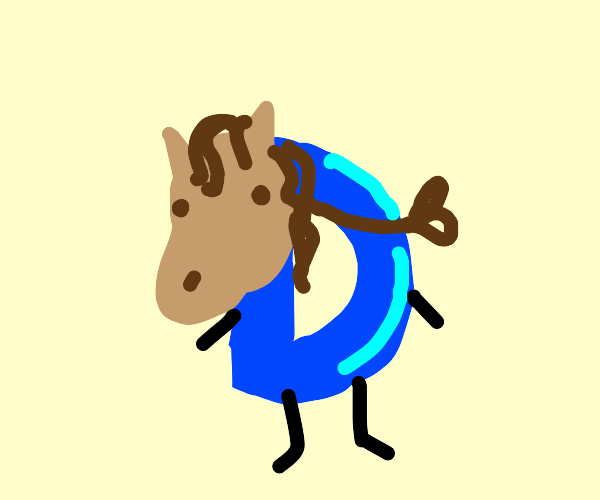 drawception with a horse mask