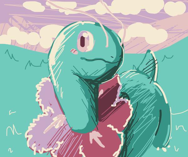 meganium Pokemon in field of grass