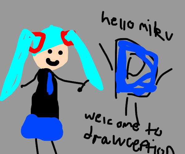 Miku wants to play Drawception