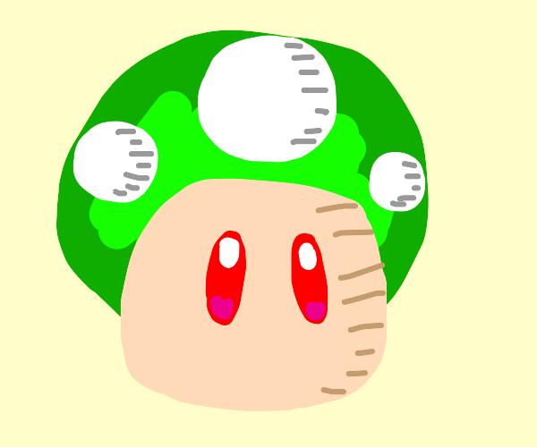 1 up mushroom got red eyes