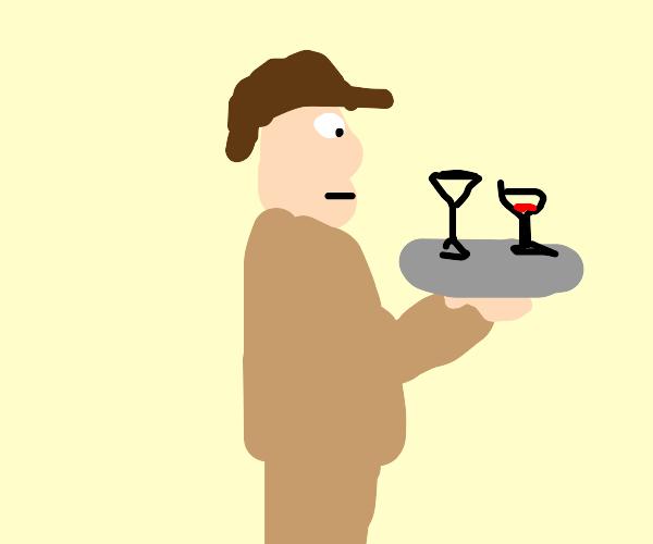 Sherlock Holmes waiter