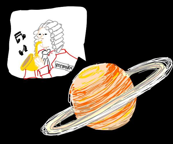 Beethoven plays saxophone on Saturn