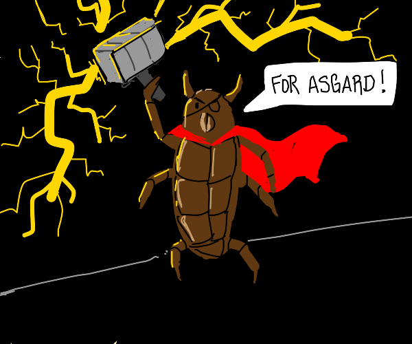roach becomes thor