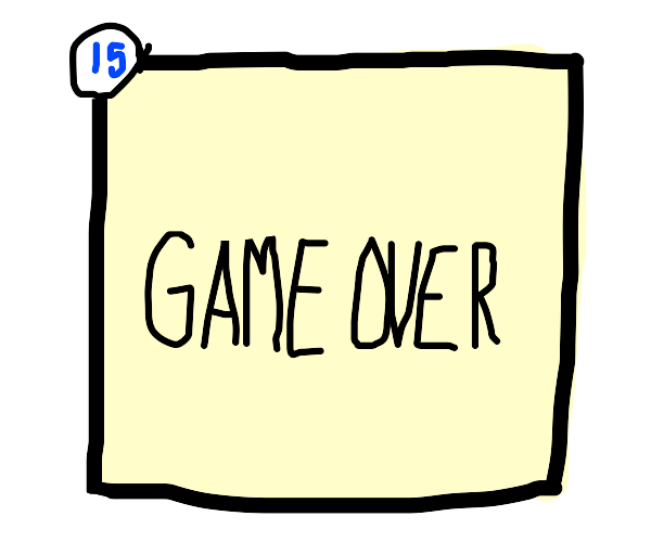 Panel 15 GAME OVER