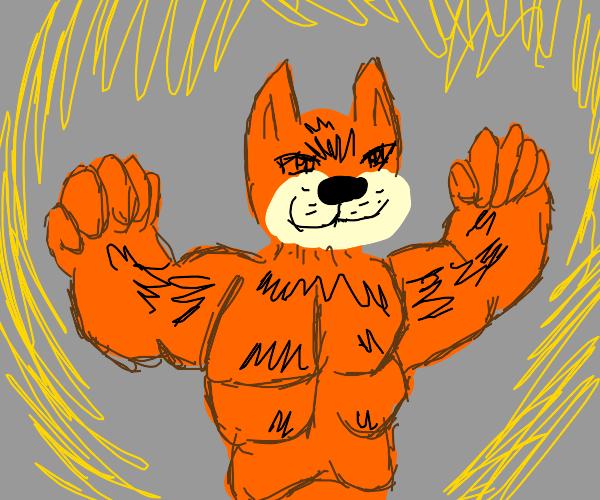Super saiyan Garfield