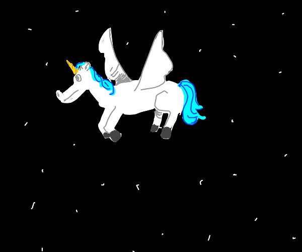 Flying space unicorn