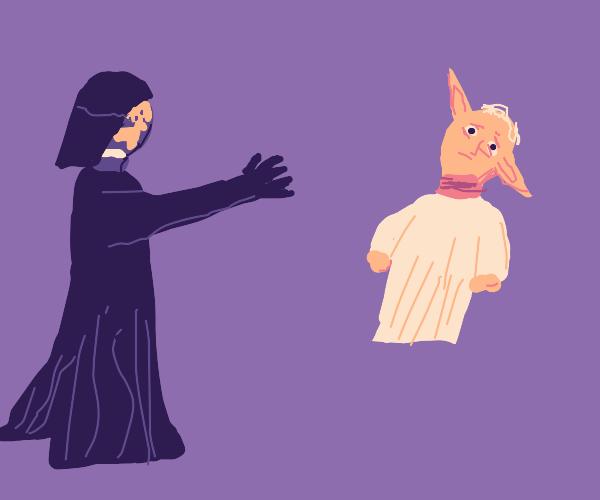 Earth Vader chokes Yoda