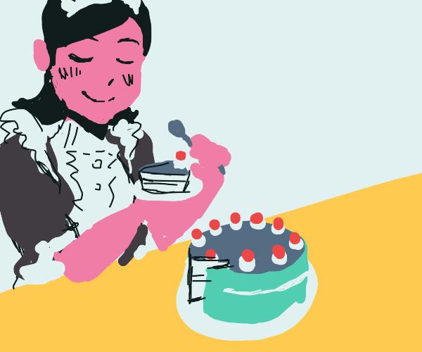 maid eat cake :))
