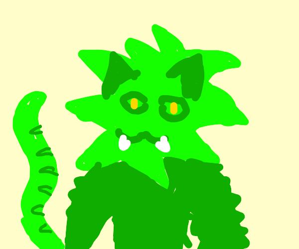 Green lion man