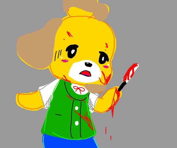 Isabelle (animal crossing) commits a murder