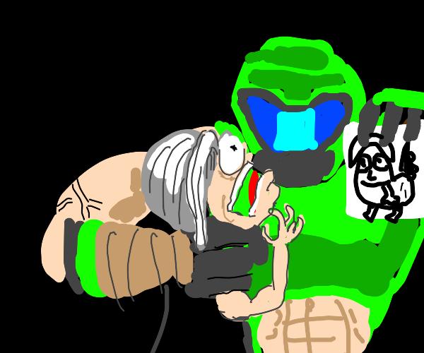Greenpowerranger questions old man about butt