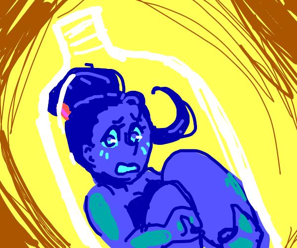 genie gets stuck in bottle