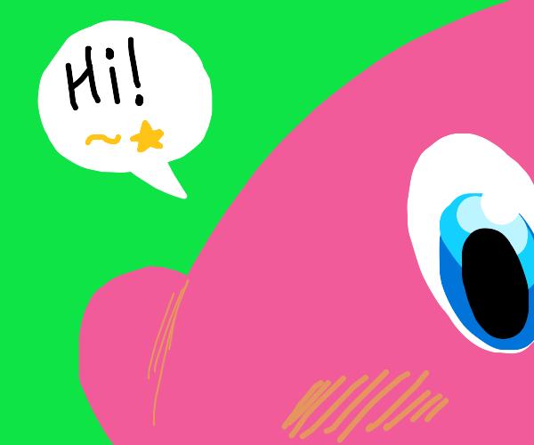 Kirby saying hi