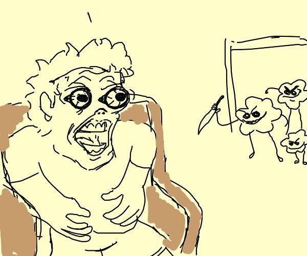 popcorn family invades man house