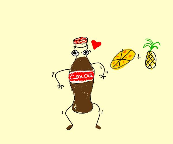 Crazy bottle of coca-cola