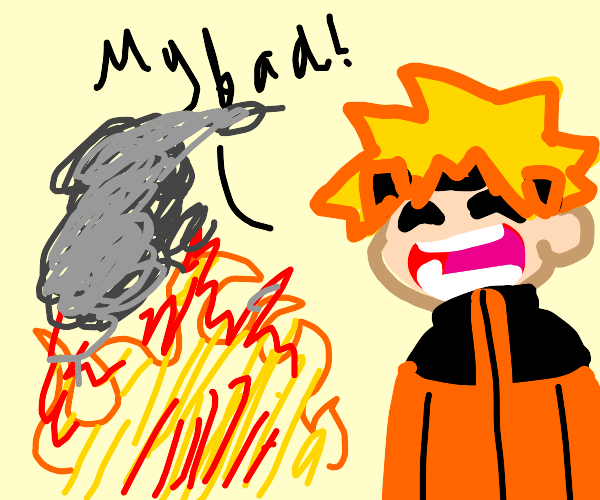 naruto caused a fire
