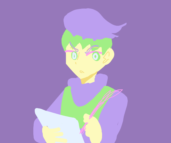 That JoJo guy with green hair fills a survey