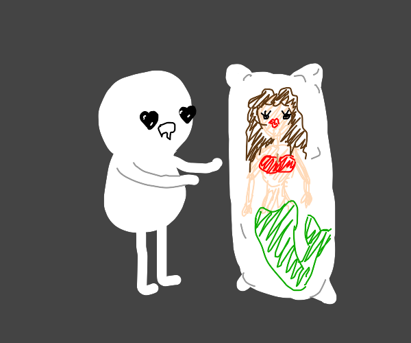 in love with mermaid-bodypillow